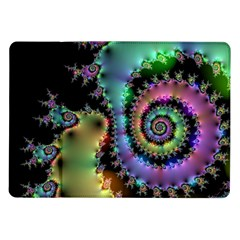 Satin Rainbow, Spiral Curves Through the Cosmos Samsung Galaxy Tab 10.1  P7500 Flip Case