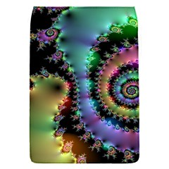 Satin Rainbow, Spiral Curves Through the Cosmos Removable Flap Cover (Small)