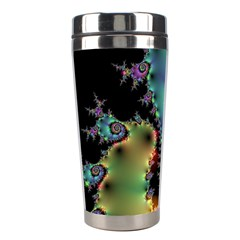 Satin Rainbow, Spiral Curves Through The Cosmos Stainless Steel Travel Tumbler