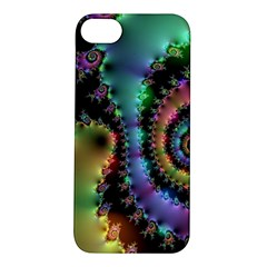 Satin Rainbow, Spiral Curves Through the Cosmos Apple iPhone 5S Hardshell Case