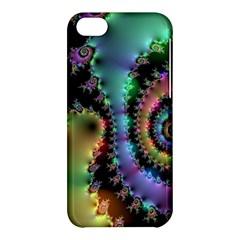 Satin Rainbow, Spiral Curves Through the Cosmos Apple iPhone 5C Hardshell Case