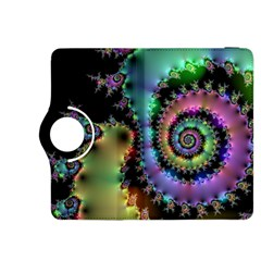 Satin Rainbow, Spiral Curves Through the Cosmos Kindle Fire HDX 8.9  Flip 360 Case