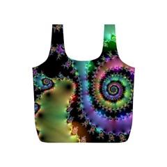 Satin Rainbow, Spiral Curves Through The Cosmos Reusable Bag (s)