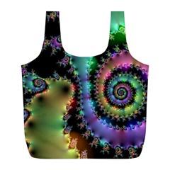 Satin Rainbow, Spiral Curves Through The Cosmos Reusable Bag (l)