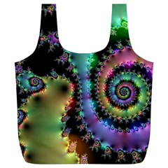 Satin Rainbow, Spiral Curves Through the Cosmos Reusable Bag (XL)