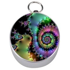 Satin Rainbow, Spiral Curves Through The Cosmos Silver Compass