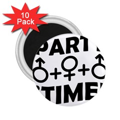 Party Time Threesome Sex Concept Typographic Design 2 25  Button Magnet (10 Pack)