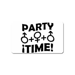 Party Time Threesome Sex Concept Typographic Design Magnet (Name Card)