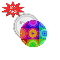 Retro Circles 1.75  Button (100 pack)