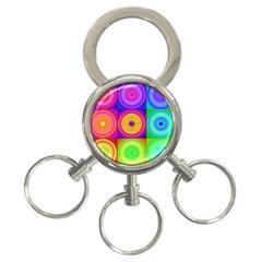 Retro Circles 3 Ring Key Chain