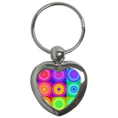 Retro Circles Key Chain (Heart)