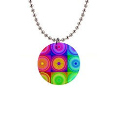 Retro Circles Button Necklace