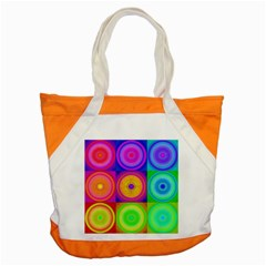 Retro Circles Accent Tote Bag