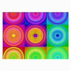 Retro Circles Glasses Cloth (Large, Two Sided)