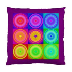 Retro Circles Cushion Case (Two Sided)