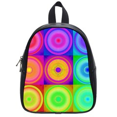 Retro Circles School Bag (small)