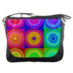 Retro Circles Messenger Bag