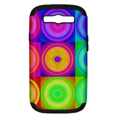 Retro Circles Samsung Galaxy S Iii Hardshell Case (pc+silicone)