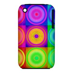 Retro Circles Apple iPhone 3G/3GS Hardshell Case (PC+Silicone)