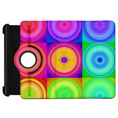 Retro Circles Kindle Fire HD 7  (1st Gen) Flip 360 Case