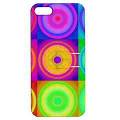Retro Circles Apple Iphone 5 Hardshell Case With Stand