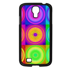 Retro Circles Samsung Galaxy S4 I9500/ I9505 Case (Black)