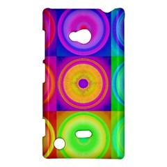 Retro Circles Nokia Lumia 720 Hardshell Case