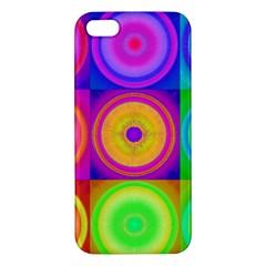 Retro Circles iPhone 5S Premium Hardshell Case