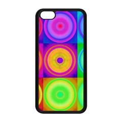 Retro Circles Apple iPhone 5C Seamless Case (Black)