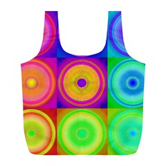 Retro Circles Reusable Bag (L)