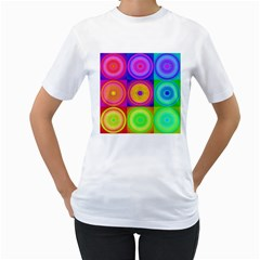 Retro Circles Women s T-Shirt (White)
