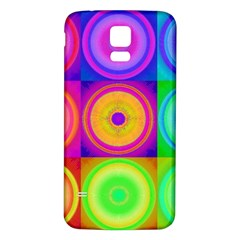 Retro Circles Samsung Galaxy S5 Back Case (White)