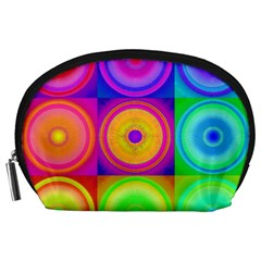 Retro Circles Accessory Pouch (Large)