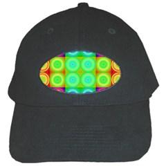 Rainbow Circles Black Baseball Cap