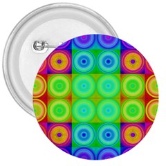 Rainbow Circles 3  Button