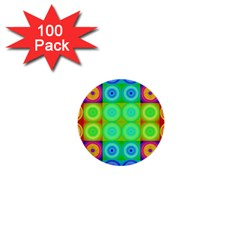 Rainbow Circles 1  Mini Button (100 pack)