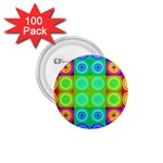 Rainbow Circles 1.75  Button (100 pack) Front