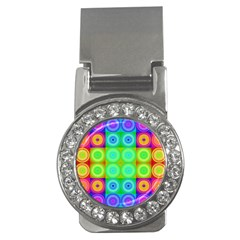 Rainbow Circles Money Clip (CZ)