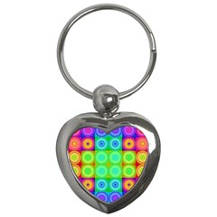 Rainbow Circles Key Chain (heart)