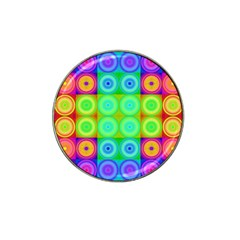 Rainbow Circles Golf Ball Marker (for Hat Clip)