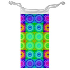 Rainbow Circles Jewelry Bag
