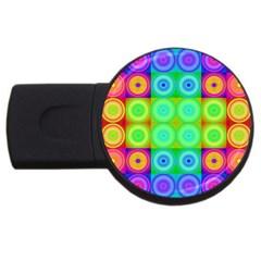Rainbow Circles 4gb Usb Flash Drive (round)