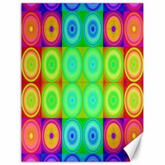 Rainbow Circles Canvas 18  x 24  (Unframed)