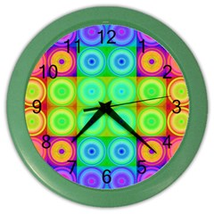 Rainbow Circles Wall Clock (color)