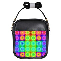 Rainbow Circles Girl s Sling Bag