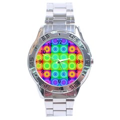 Rainbow Circles Stainless Steel Watch