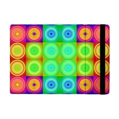 Rainbow Circles Apple Ipad Mini Flip Case