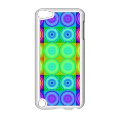 Rainbow Circles Apple iPod Touch 5 Case (White)