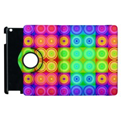 Rainbow Circles Apple Ipad 2 Flip 360 Case