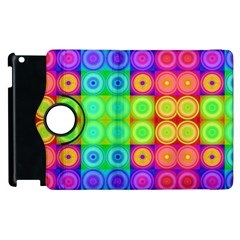 Rainbow Circles Apple Ipad 3/4 Flip 360 Case
